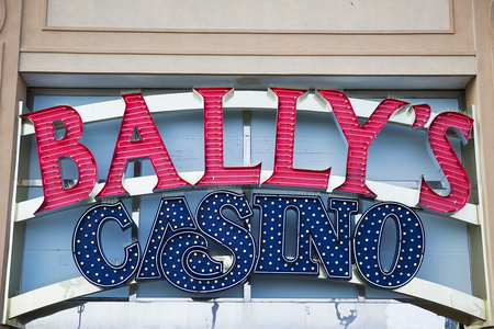ATLANTIC CITY, USA - AUGUST 25, 2017: Detail of Ballys Atlantic City hotel and casino in Atlantic City. Hotel was opened at 1979 and have 1753 rooms.