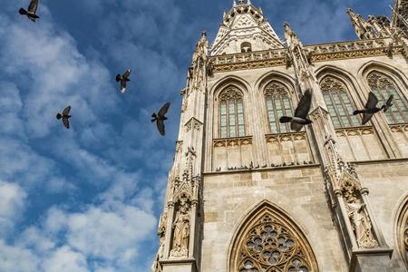 オーストリア、ウィーンのシュテファン大聖堂の詳細 写真素材