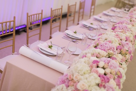 View at luxury wedding decoration