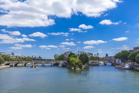 View at Seine river in Paris, France