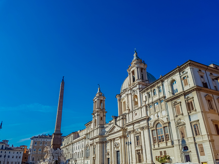 View at Piazza Navona in Rome, Italy