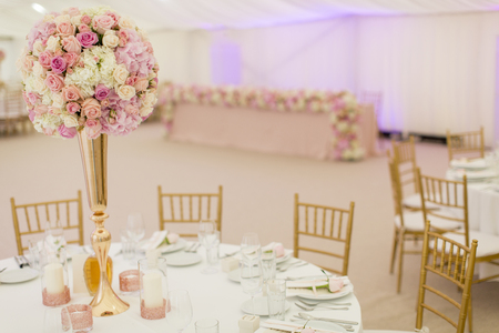View at luxury wedding decoration