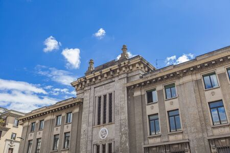 イタリアのベルガモ裁判所での眺め 写真素材
