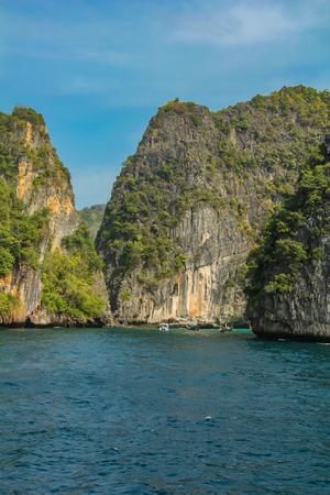 View at Maya Bay at Phi Phi archipelago in Thailand