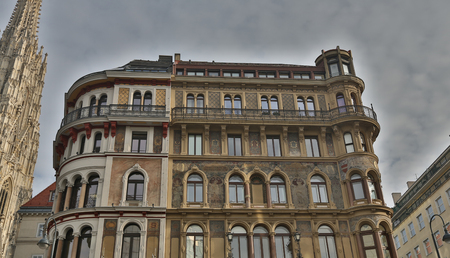 View at old Austrian houses in Vienna, Austria