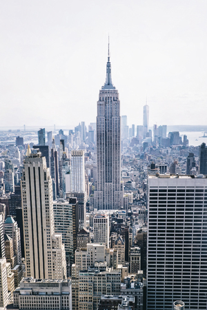 Aerial view at New York City, United State Stock Photo