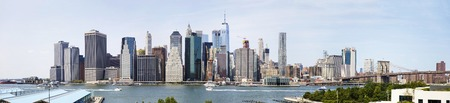 NEW YORK, USA - AUGUST 27, 2017:  Panoramic view at New York City. With 256 skyscrapers,  New York City ranks second in the world.