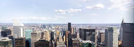 ニューヨーク、アメリカ合衆国 - 2017 年 8 月 26 日: ニューヨーク市のパノラマ ビュー。256 高層ビル、第 2 世界のニューヨーク市の位。