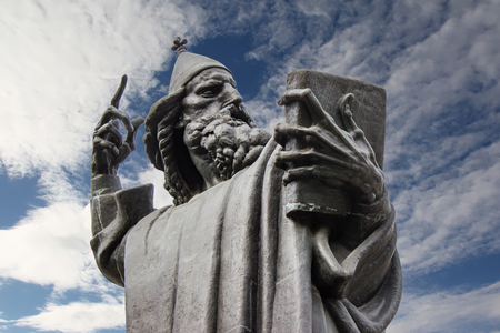 Detail of the Gregory of Nin statue in Split, Croatia