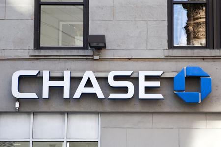 ニューヨーク、ニューヨーク、アメリカ合衆国 - 2017 年 8 月 22 日: チェース銀行。1799 で設立された国立銀行です。 報道画像