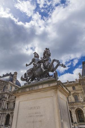 View at Louis XIV statue in Paris, France Sajtókép