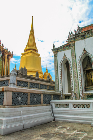 Temple of the Emerald Buddha at Grand Palace in Bangkok, Thailand