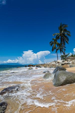 playa: View at Playa las Animas near Puerto Vallarte in Mexico Stock Photo