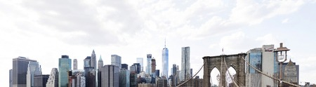 NEW YORK, USA - AUGUST 24, 2017:  Panoramic view at New York City. With 256 skyscrapers,  New York City ranks second in the world. 新聞圖片