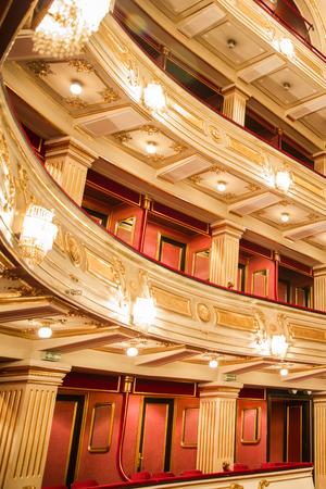 BELGRADE, SERBIA - OCTOBER 18, 2017: Interior of National Theatre in Belgrade, Serbia. Theatre was opened at 1869. Editorial