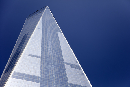 ニューヨーク、アメリカ合衆国 - 2017 年 8 月 30 日: ニューヨークの 1 ワールドトレードセンターのディテール。541 m、西半球の高い建物です。