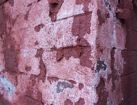 Gros plan de la vieille façade rouge vieillie Banque d'images - 89122663