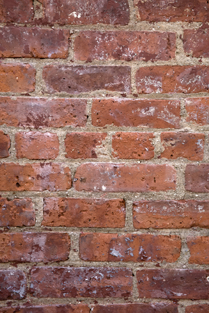 Detalhe, de, a, antigas, parede vermelha tijolo Foto de archivo - 89436591