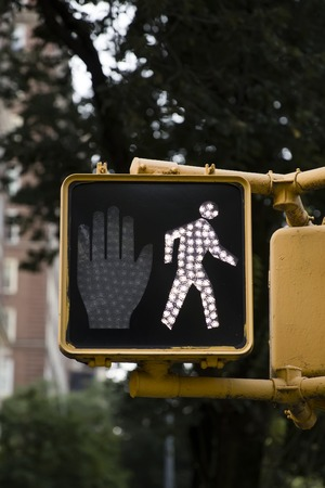 Detail of the pedestrian traffic lights in New York City Banco de Imagens - 89281962