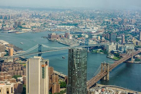 Aerial view at New York City, USA