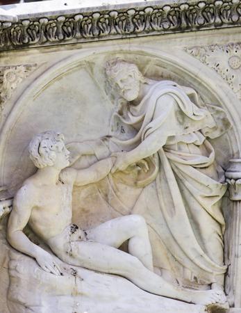Siena에서 피아자 델 캄포에서 Fonte 가이아에서 자세히보기를 닫습니다 스톡 콘텐츠 - 89870731