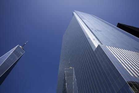 ニューヨーク、米国 - 2017年8月30日:ニューヨークのワンワールドトレードセンターの詳細。541mの高さは西半球で最も高い建物です。 報道画像