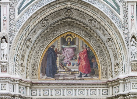 Detail of the Cattedrale di Santa Maria del Fiore in Florence, Italy Stock Photo