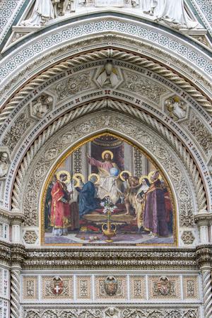 詳細や di のイタリア、フィレンツェのサンタ マリア デル フィオーレ 報道画像