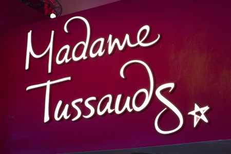 NEW YORK, USA - AUGUST 31, 2017: Detail of te Madame Tussauds New York. It is a wax museum established in 2000. Redakční