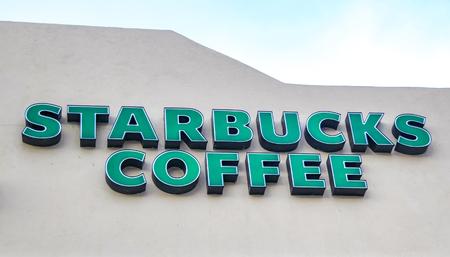カボ サン ルーカス、メキシコで Stabucks コーヒーのカボ サン ルーカス, メキシコ - 2014 年 8 月 10 日: 詳細。それは 1971 年に設立されたアメリカの世 報道画像