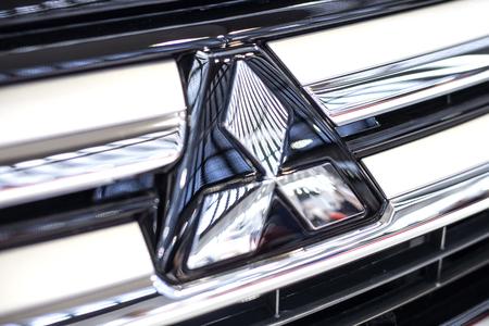 베오그라드, 세르비아 -3 월 28 일, 2017 : 베오그라드, 세르비아에서 미쓰비시 자동차의 세부 사항. Mitsubishi Corporation은 일본 최대의 무역 회사입니다. 에디토리얼