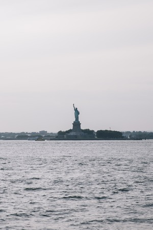 Approaching Liberty Island, New York City, USA