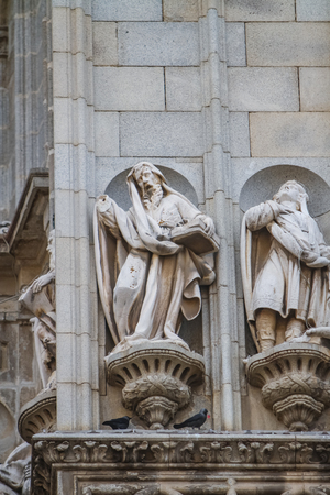 Detail of the Toledo cathedral in Spain Stock Photo