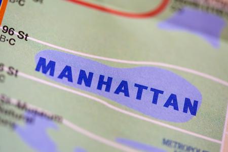 Word Manhattan on paper 版權商用圖片