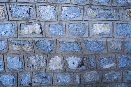 Close up detail view at stone wall