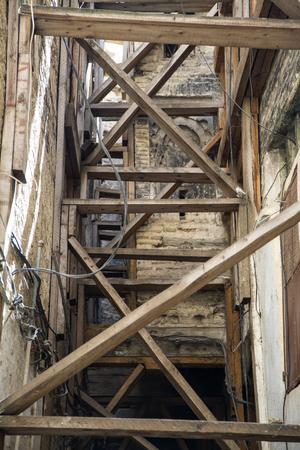 Detail of the narrow street in Fes, Morocco 版權商用圖片
