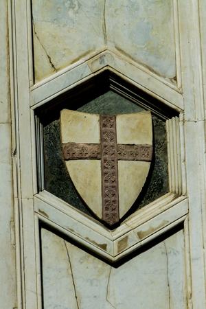 피렌체, 이태리에서 산타 마리아 델 Fiore 성당에서 세부 사항 스톡 콘텐츠