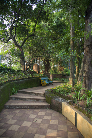 Detail from Hanging Gardens of Mumbai in India