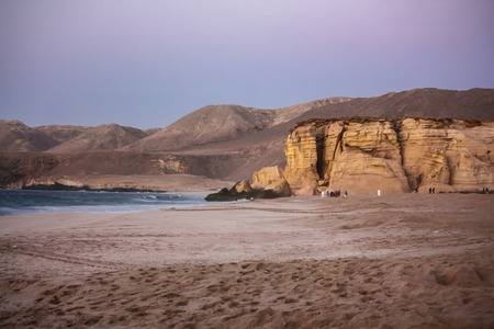 View at shore at Ras al Jinz in Oman Banco de Imagens