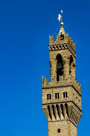 フィレンツェのヴェッキオ宮殿の塔の詳細, イタリア
