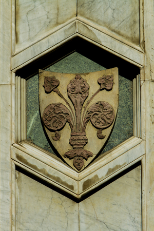 Detail from Santa Maria del Fiore cathedral in Florence, Italy Stock Photo