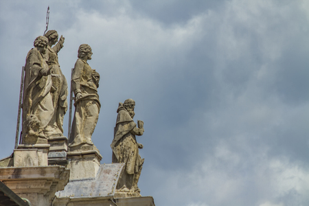 Detail from Chiesa di San Marco in Bergamo, Italy Stock Photo