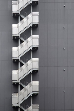 Detail of the modern building in Tokyo, Japan Stock Photo