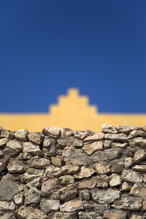 Detail of the ancient stone wall from Agadir, Morocco Stock Photo