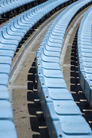 Closeup detail of the blue stadium seats Reklamní fotografie