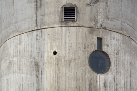 Closeup detail of the concrete urban building