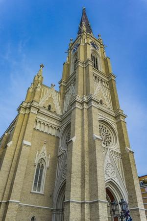 View at Name of Mary Church in Novi Sad, Serbia