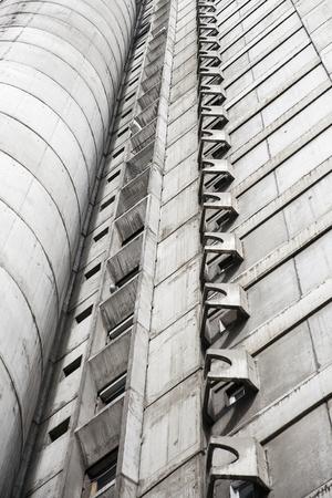 Closeup detail of the concrete urban building Stock Photo - 95131583