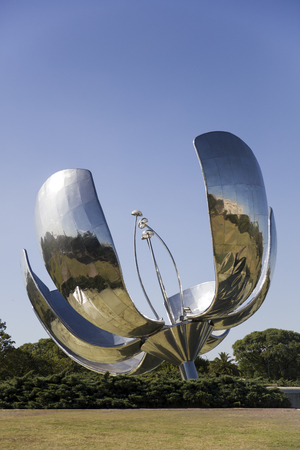 Floralis Generica Monument in Buenos Aires, Argentina made by Eduardo Catalano in 2002