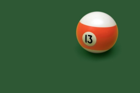 Pool ball number on the table